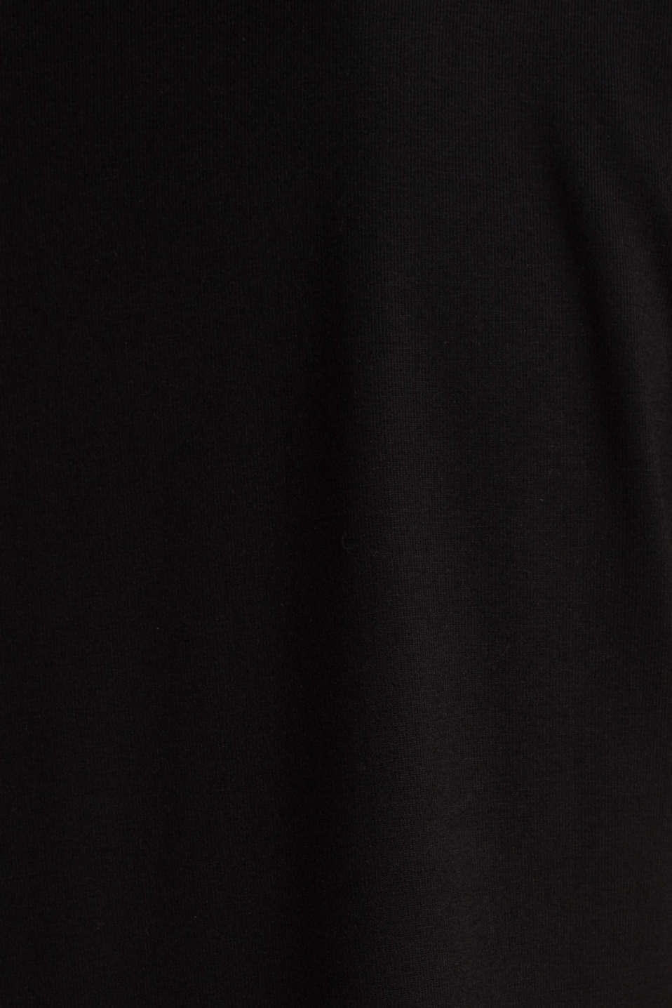 Stretch top with chiffon trims, BLACK, detail image number 4