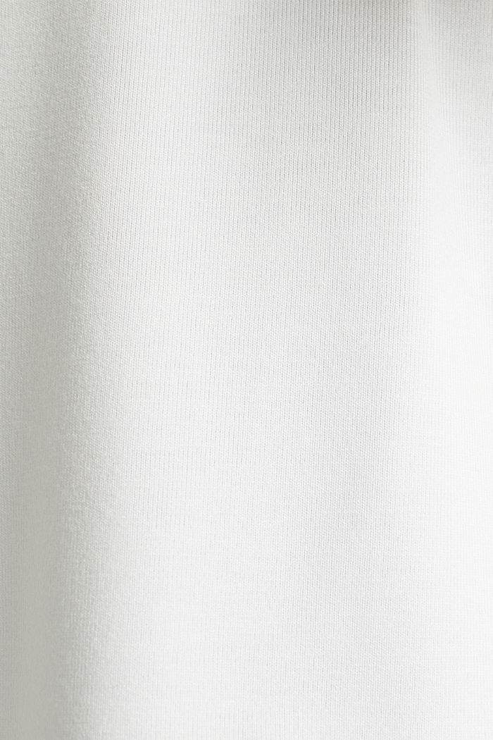 Stretch-Shirt mit Chiffon-Blenden, OFF WHITE, detail image number 4