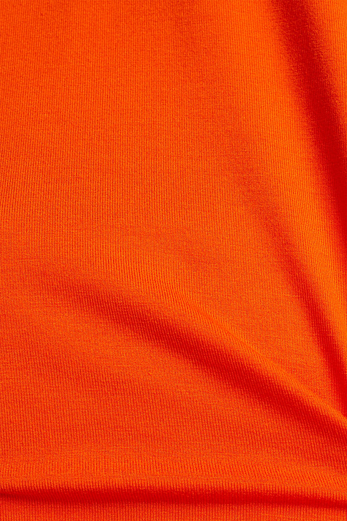 Camiseta elástica con tiras de gasa, RED ORANGE, detail image number 4