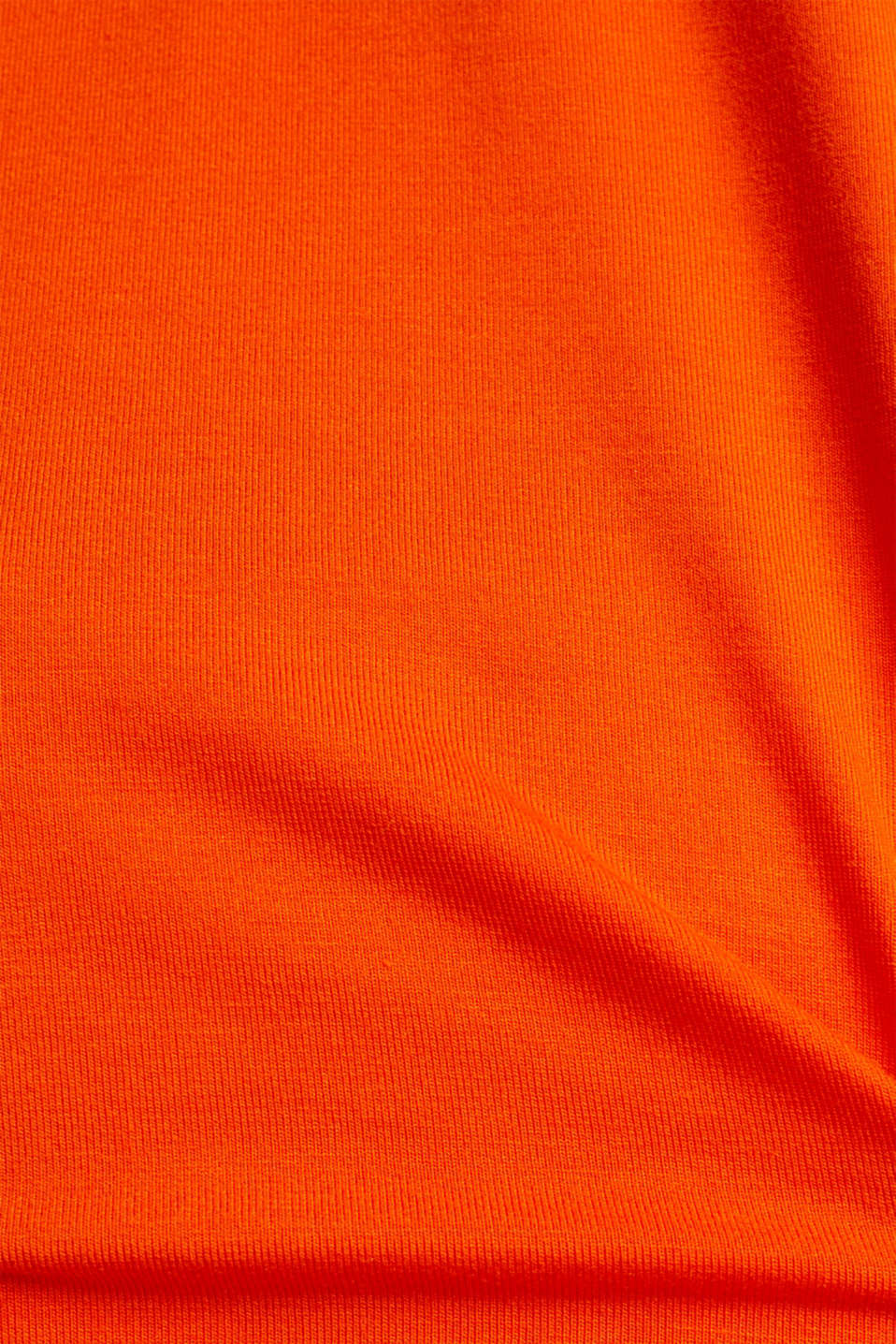 Stretch top with chiffon trims, RED ORANGE, detail image number 4