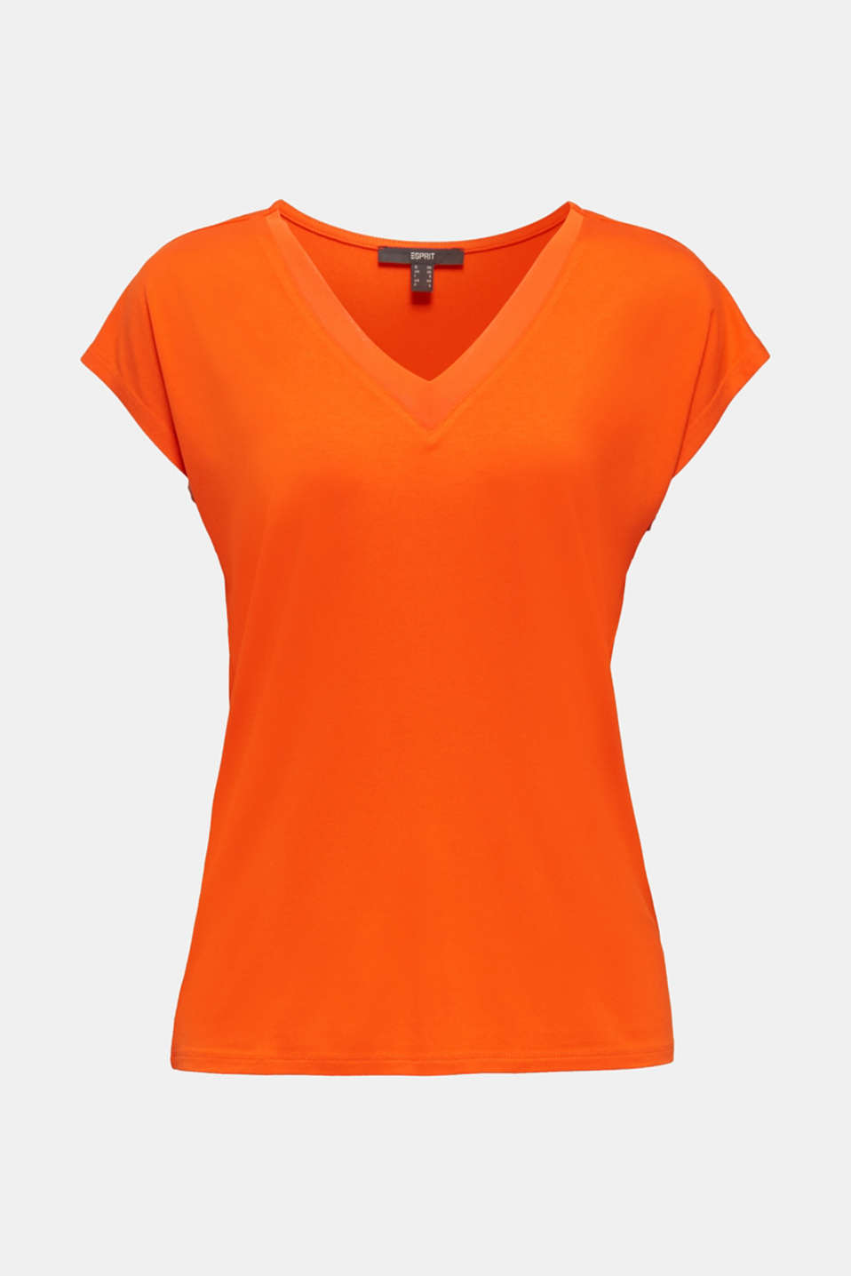 Stretch top with chiffon trims, RED ORANGE, detail image number 6