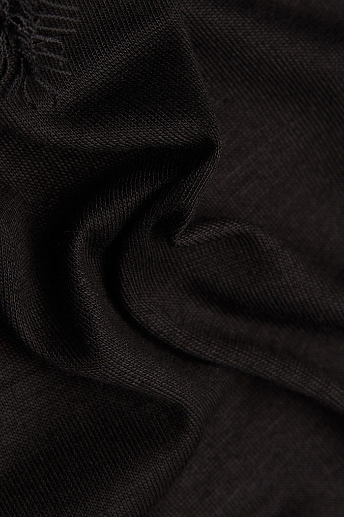 Jersey-Top mit Spitze, BLACK, detail image number 4