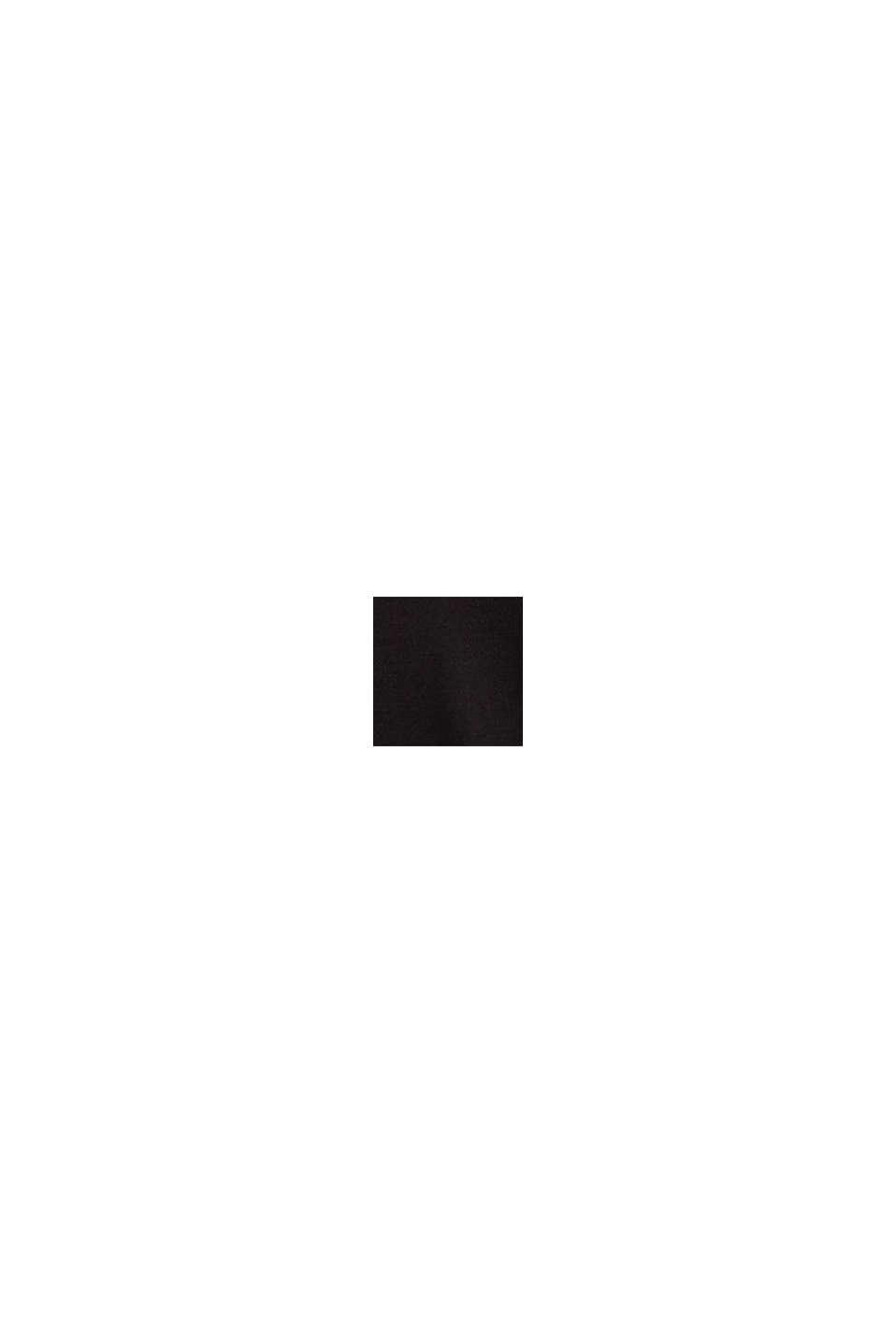 Jersey-Top mit Spitze, BLACK, swatch