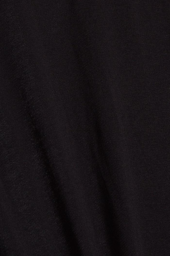Avoin neuletakki jerseytä, BLACK, detail image number 4