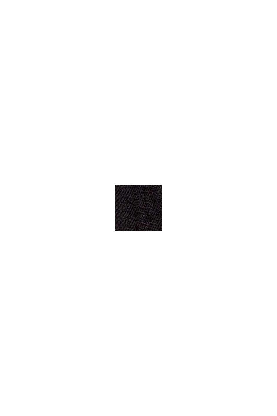 Cardigan ouvert en jersey, BLACK, swatch