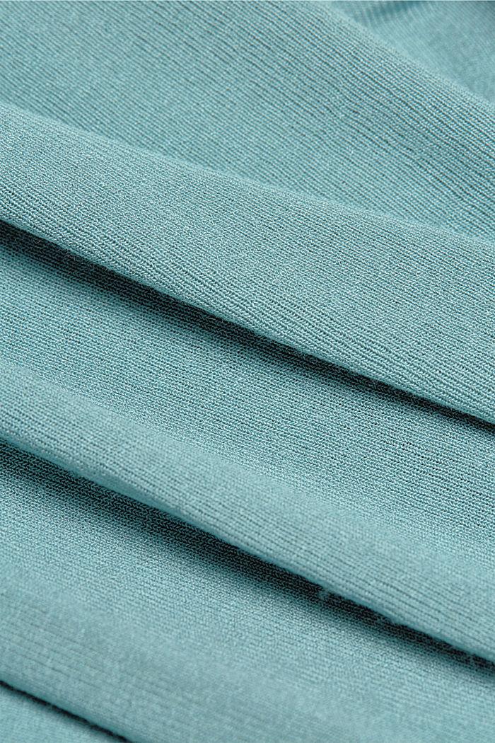 Cardigan aperto in jersey, DARK TURQUOISE, detail image number 4