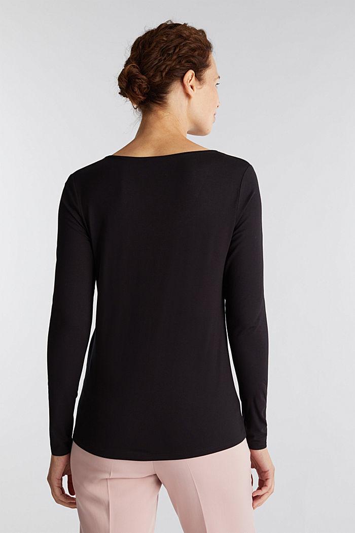 Long sleeve top with a V-neckline, BLACK, detail image number 3