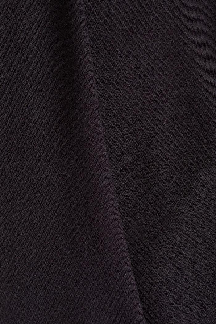 Long sleeve top with a V-neckline, BLACK, detail image number 4