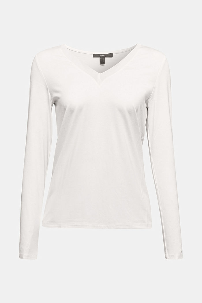 Long sleeve top with a V-neckline