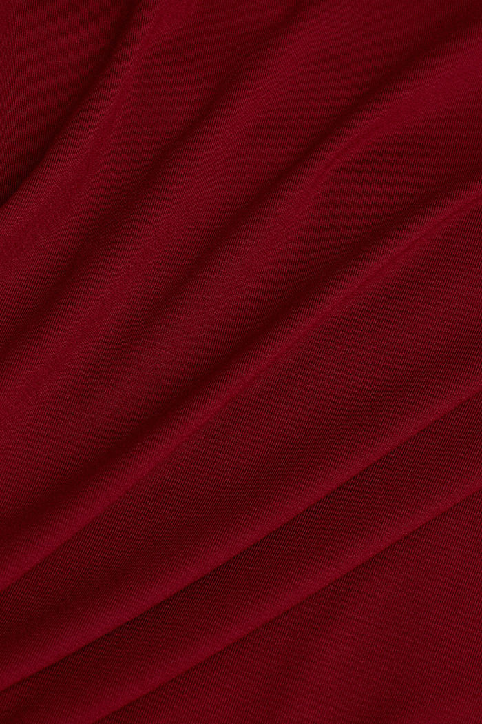 Long sleeve top with a V-neckline, BORDEAUX RED, detail image number 3