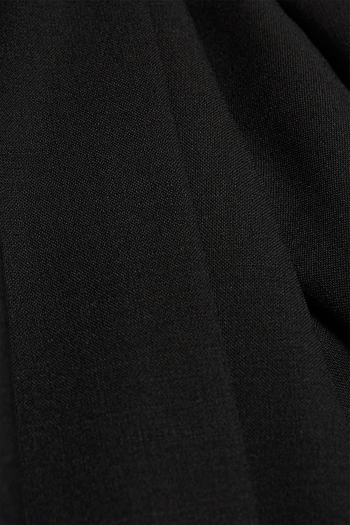 ACTIVE SUIT BLACK trousers made of blended wool, BLACK, detail image number 4