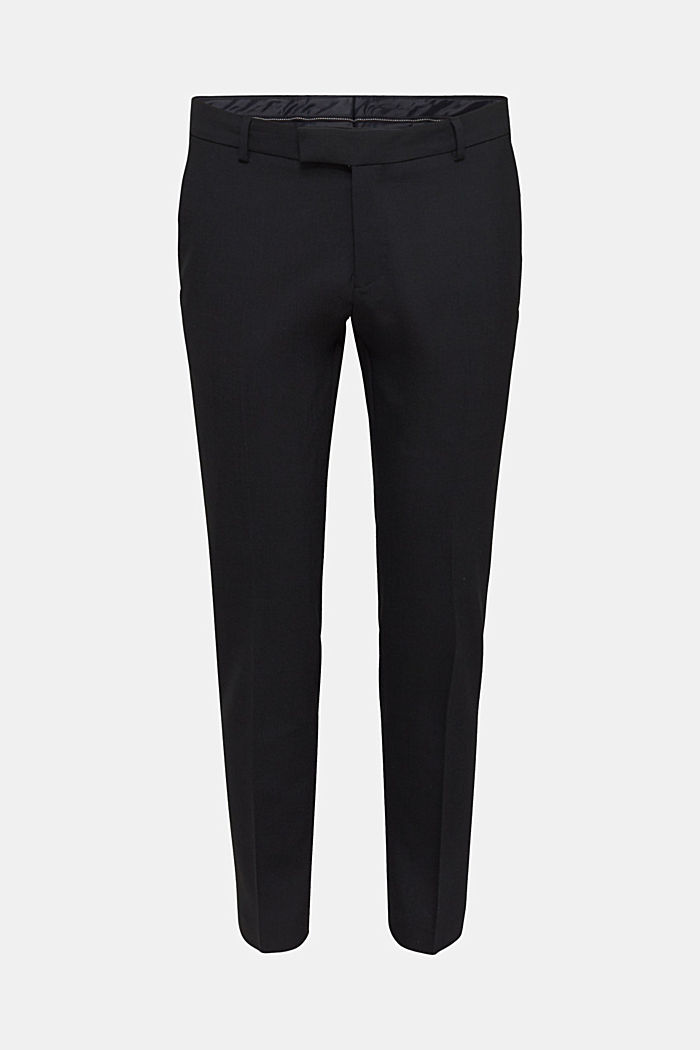 ACTIVE SUIT BLACK trousers made of blended wool, BLACK, detail image number 6