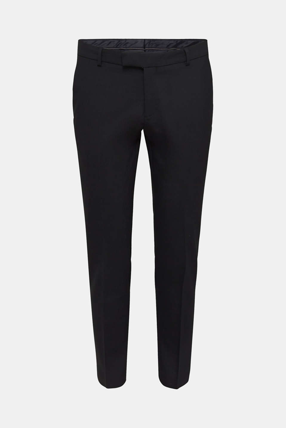 ACTIVE SUIT BLACK trousers made of blended wool, BLACK, detail image number 5