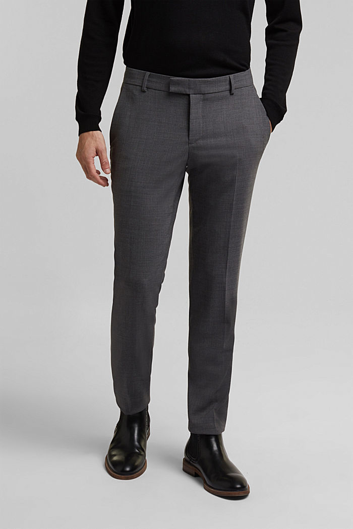 ACTIVE SUIT BLACK trousers made of blended wool