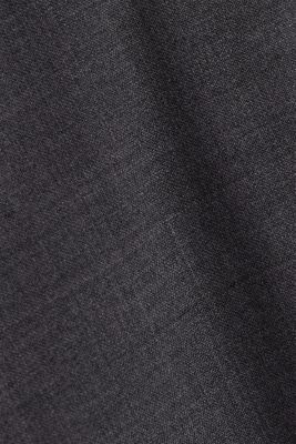 ACTIVE SUIT BLACK trousers made of blended wool, DARK GREY 5, detail