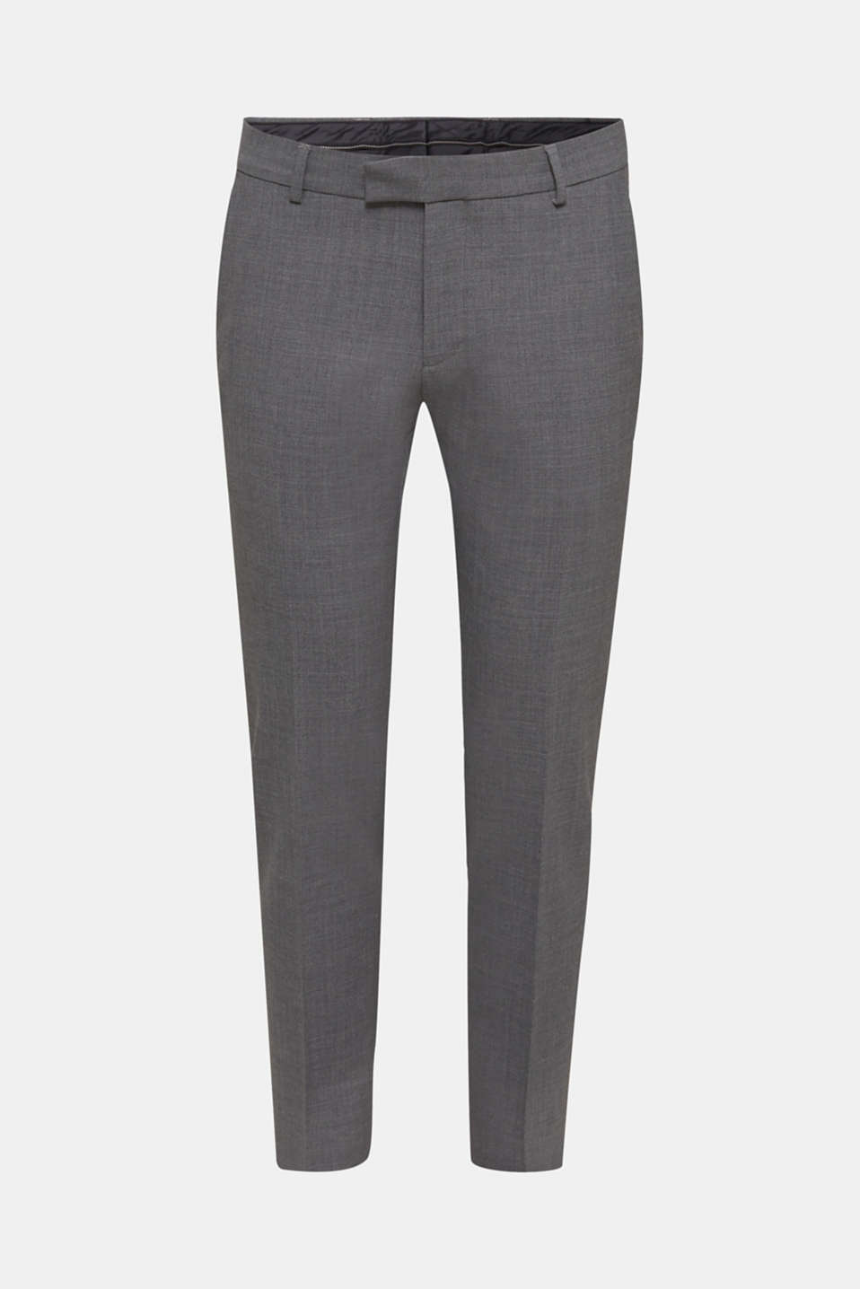 ACTIVE SUIT BLACK trousers made of blended wool, DARK GREY 5, detail image number 6