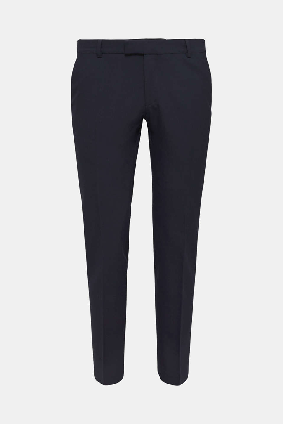 ACTIVE SUIT BLACK trousers made of blended wool, DARK BLUE, detail image number 5