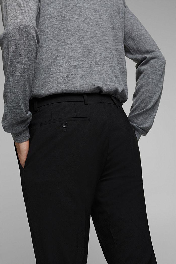 ACTIVE SUIT Hose aus Woll-Mix, BLACK, detail image number 3