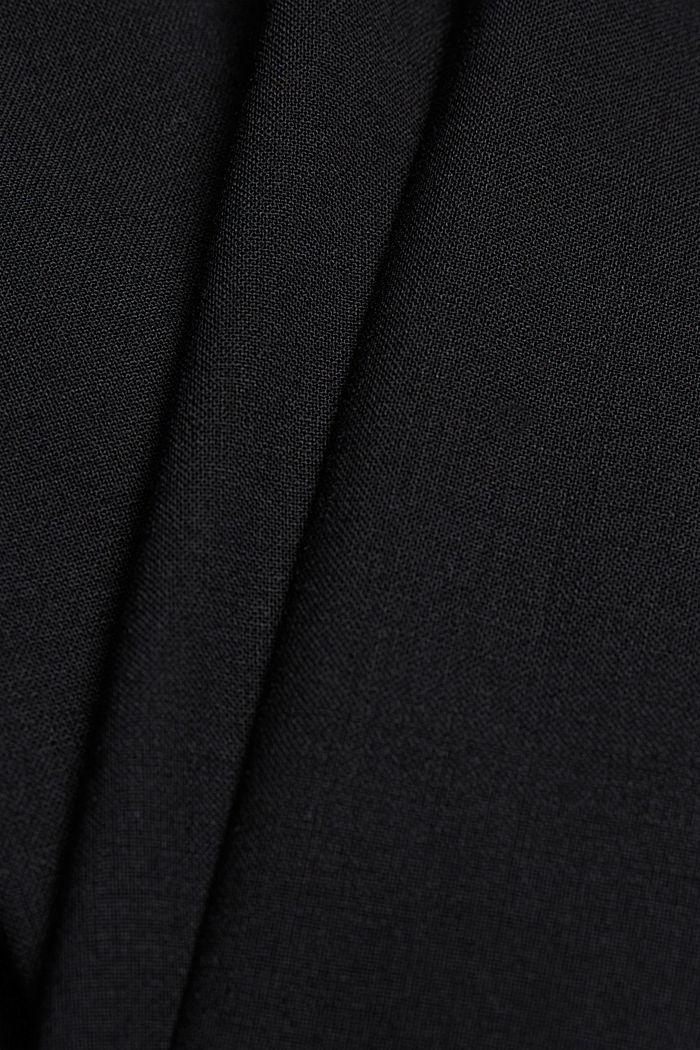 ACTIVE SUIT Hose aus Woll-Mix, BLACK, detail image number 4
