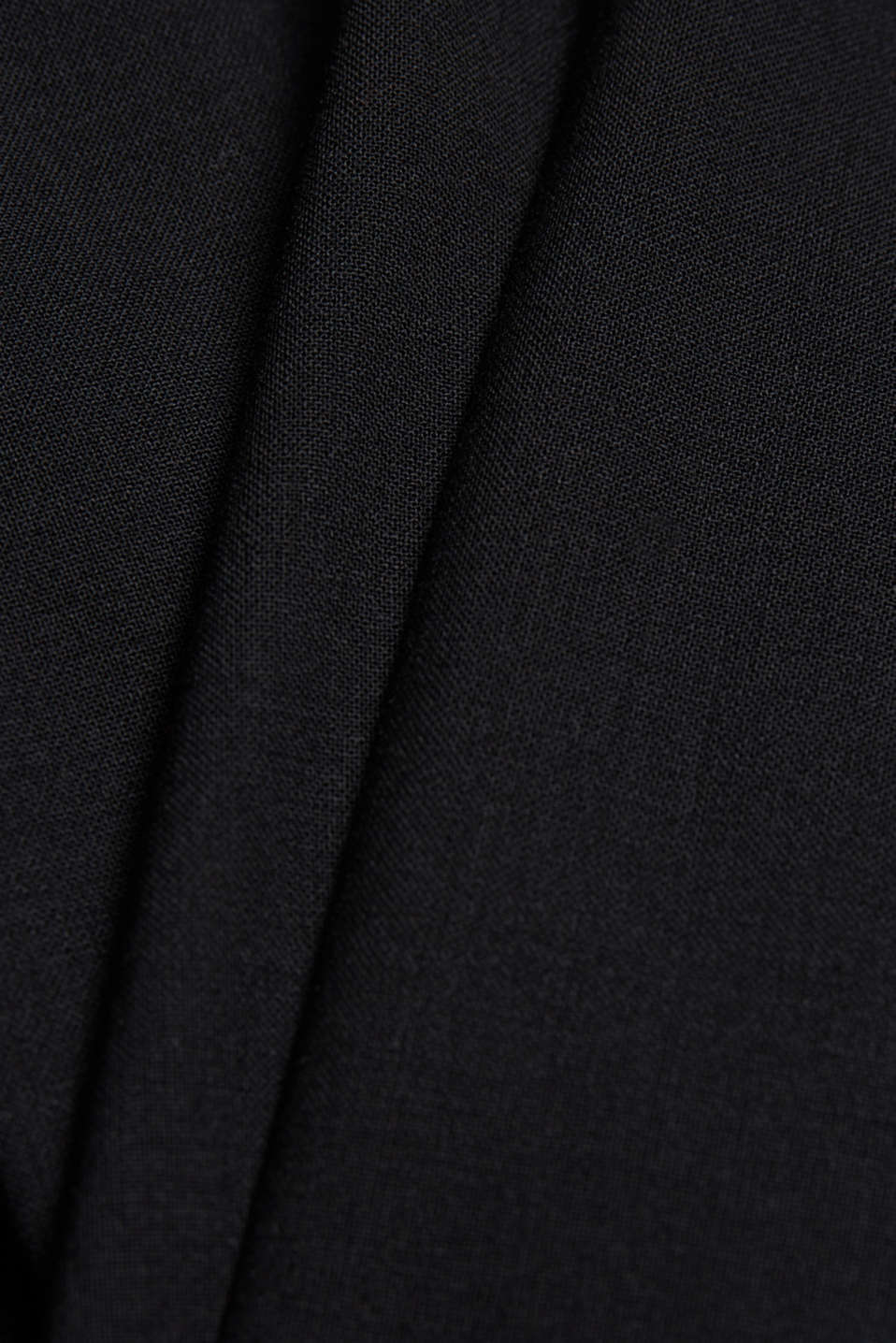 ACTIVE SUIT trousers made of blended wool, BLACK, detail image number 5