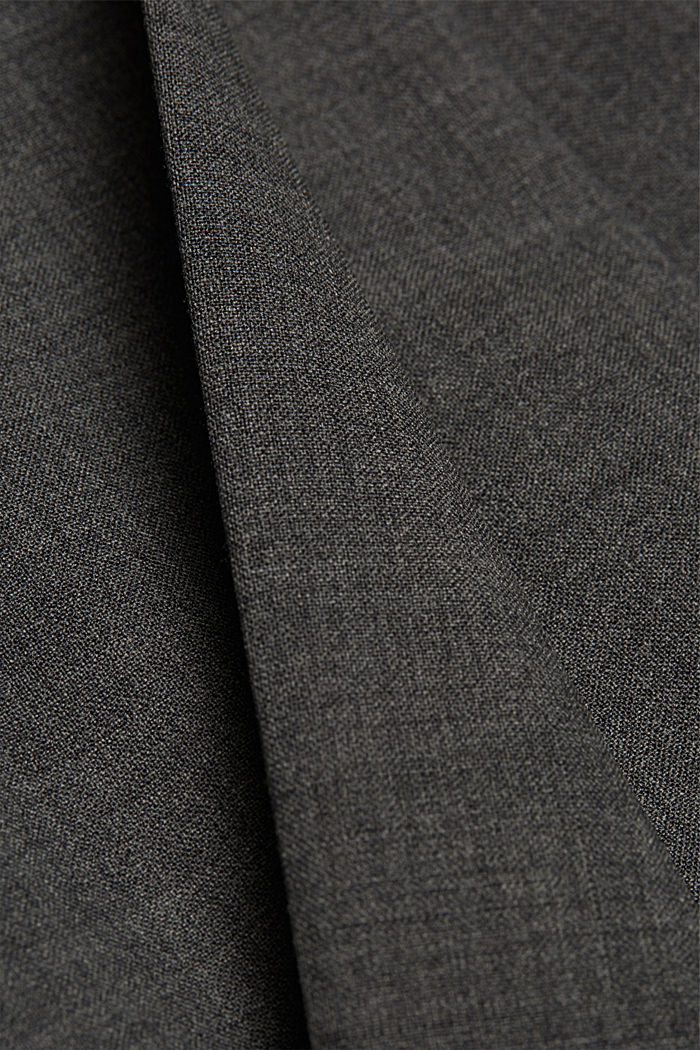 ACTIVE SUIT broek van een wolmix, DARK GREY, detail image number 3