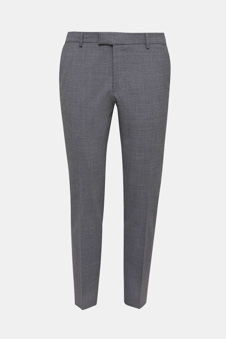 ACTIVE SUIT trousers made of blended wool, DARK GREY 5, detail image number 5