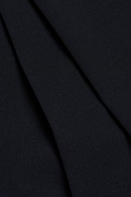 ACTIVE SUIT trousers made of blended wool, DARK BLUE, detail