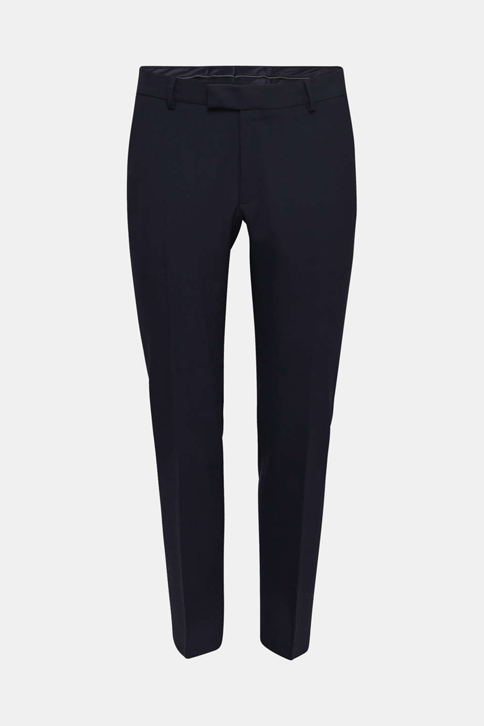 ACTIVE SUIT trousers made of blended wool, DARK BLUE, detail image number 5