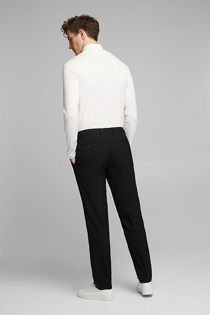 ACTIVE SUIT trousers made of blended wool, BLACK, detail image number 1