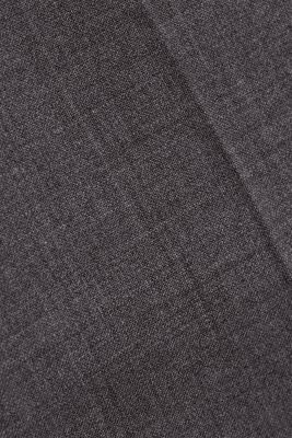 ACTIVE SUIT trousers made of blended wool, DARK GREY 5, detail