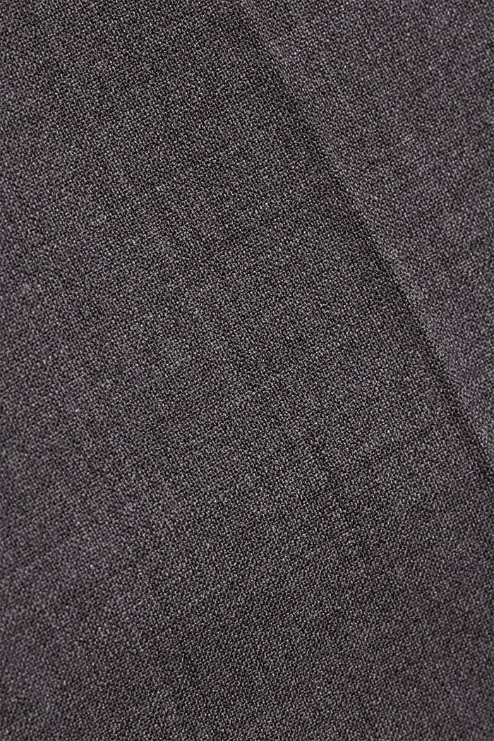 ACTIVE SUIT trousers made of blended wool, DARK GREY, detail image number 4