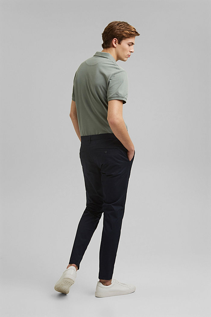 Stretch-Chino mit Organic Cotton, DARK BLUE, detail image number 3