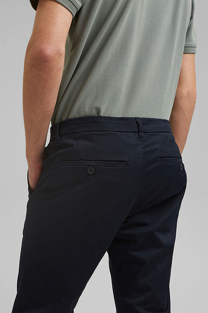 Stretch-Chino mit Organic Cotton, DARK BLUE, detail image number 5