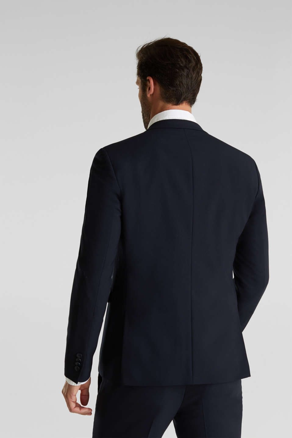 ACTIVE SUIT tailored jacket, wool blend, DARK BLUE, detail image number 3