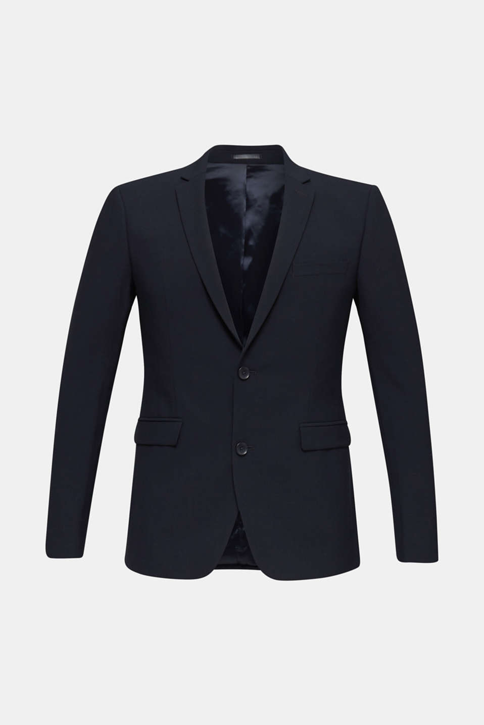 ACTIVE SUIT tailored jacket, wool blend, DARK BLUE, detail image number 6