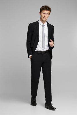 ACTIVE SUIT tailored jacket, wool blend, BLACK, detail
