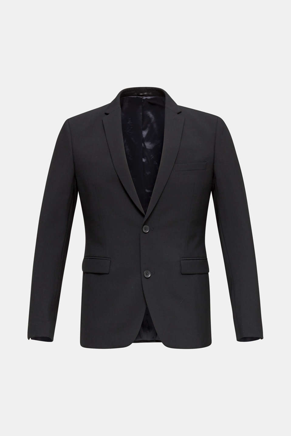 ACTIVE SUIT tailored jacket, wool blend, BLACK, detail image number 6