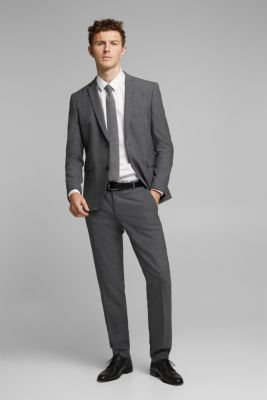 ACTIVE SUIT tailored jacket, wool blend, DARK GREY 5, detail