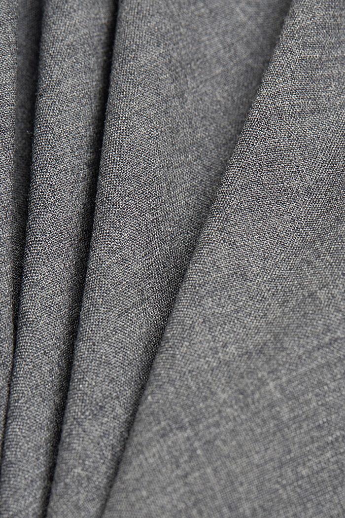 ACTIVE SUIT tailored jacket, wool blend, DARK GREY, detail image number 4