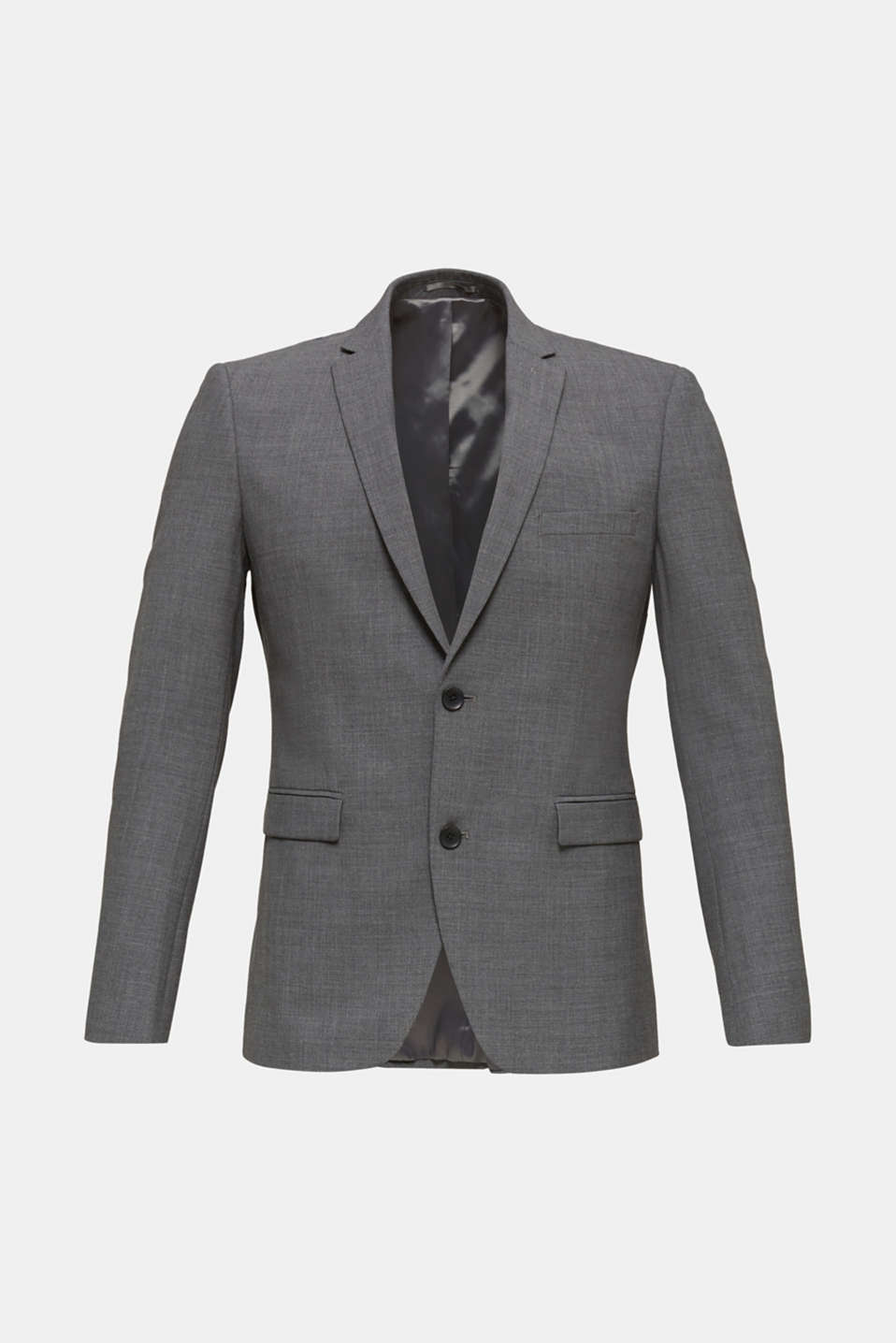 ACTIVE SUIT tailored jacket, wool blend, DARK GREY 5, detail image number 7