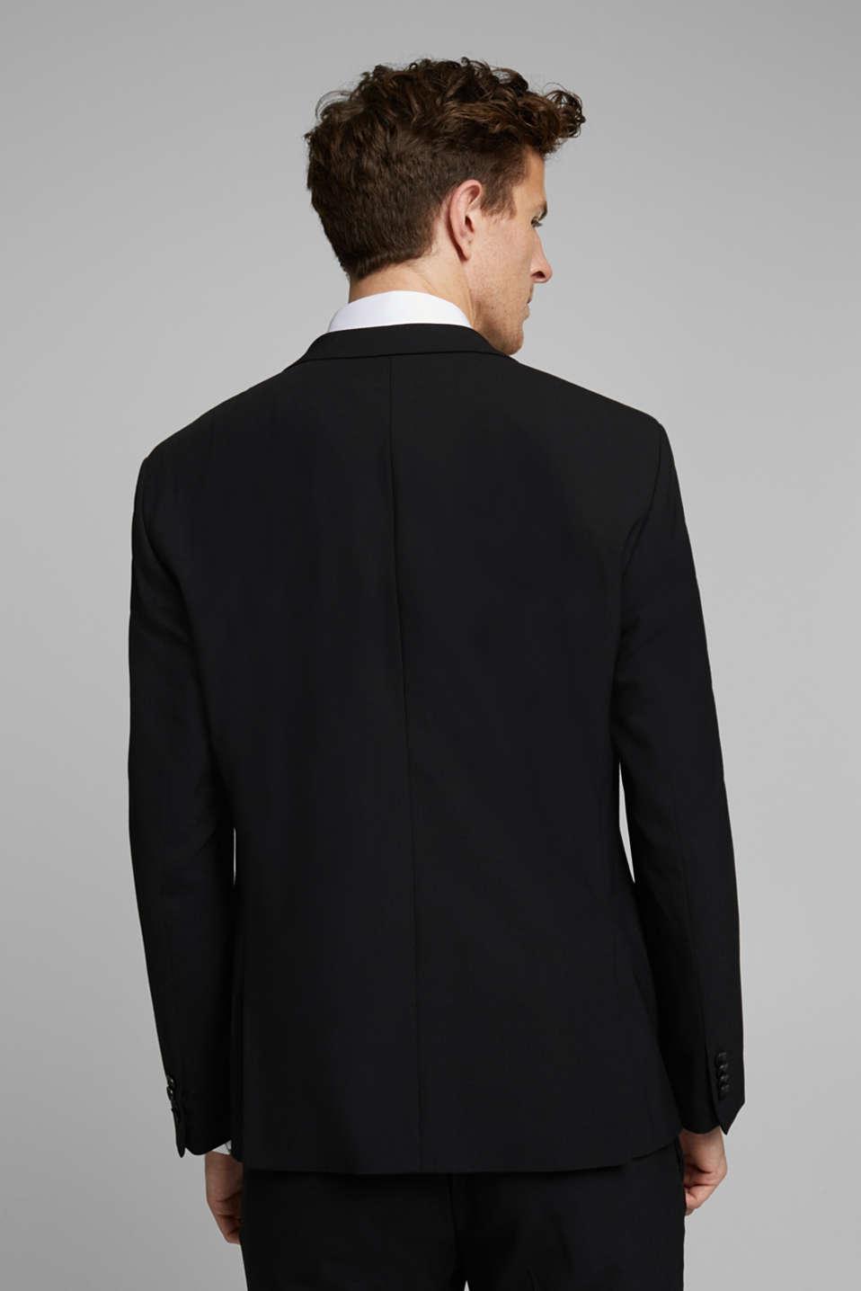 ACTIVE SUIT tailored jacket, wool blend, BLACK, detail image number 3