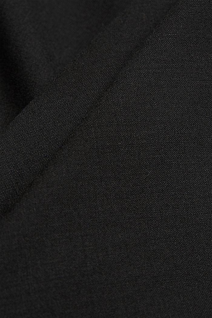 ACTIVE SUIT tailored jacket, wool blend, BLACK, detail image number 5