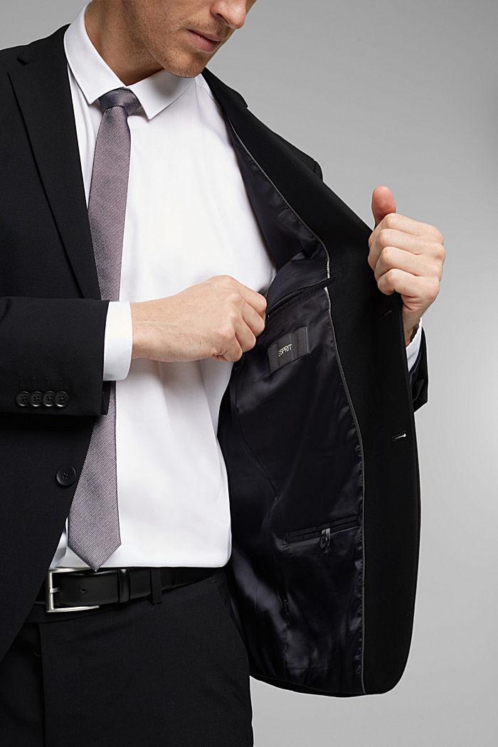 ACTIVE SUIT tailored jacket, wool blend, BLACK, detail image number 6
