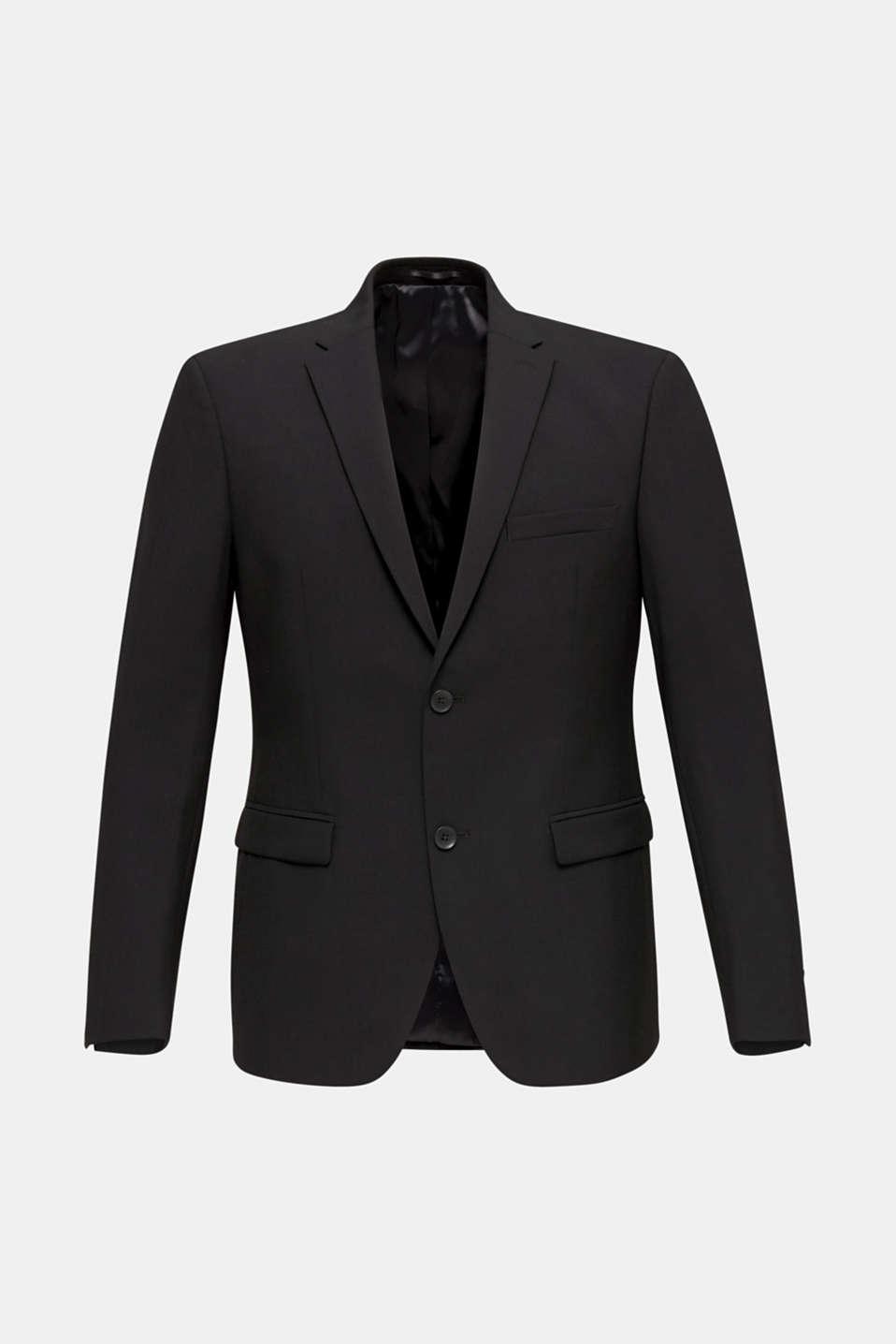 ACTIVE SUIT tailored jacket, wool blend, BLACK, detail image number 7