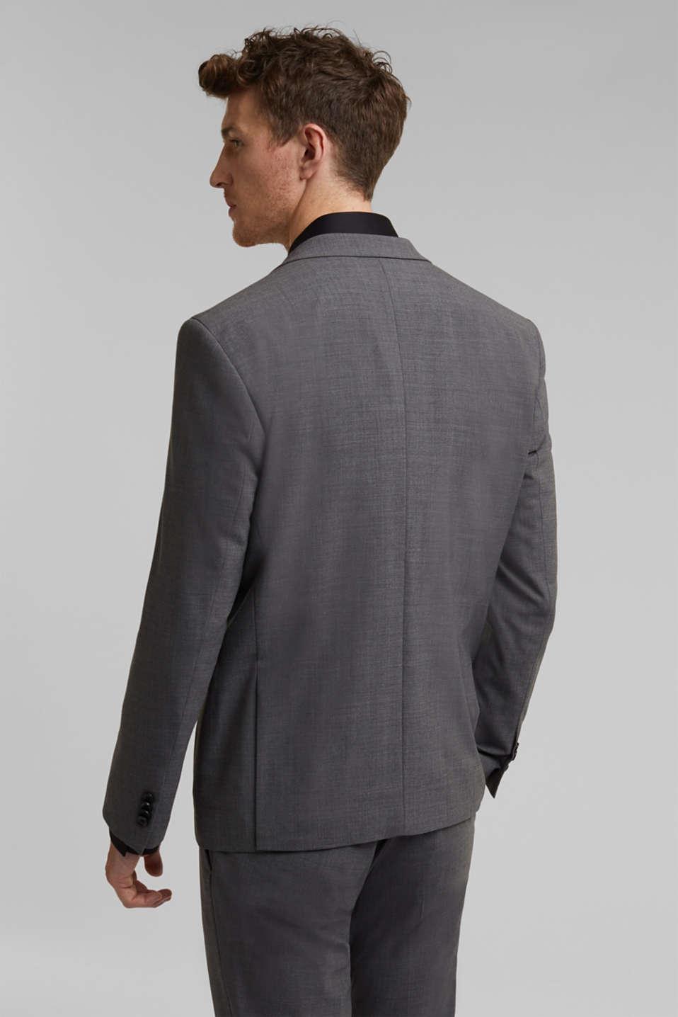 ACTIVE SUIT tailored jacket, wool blend, DARK GREY 5, detail image number 3