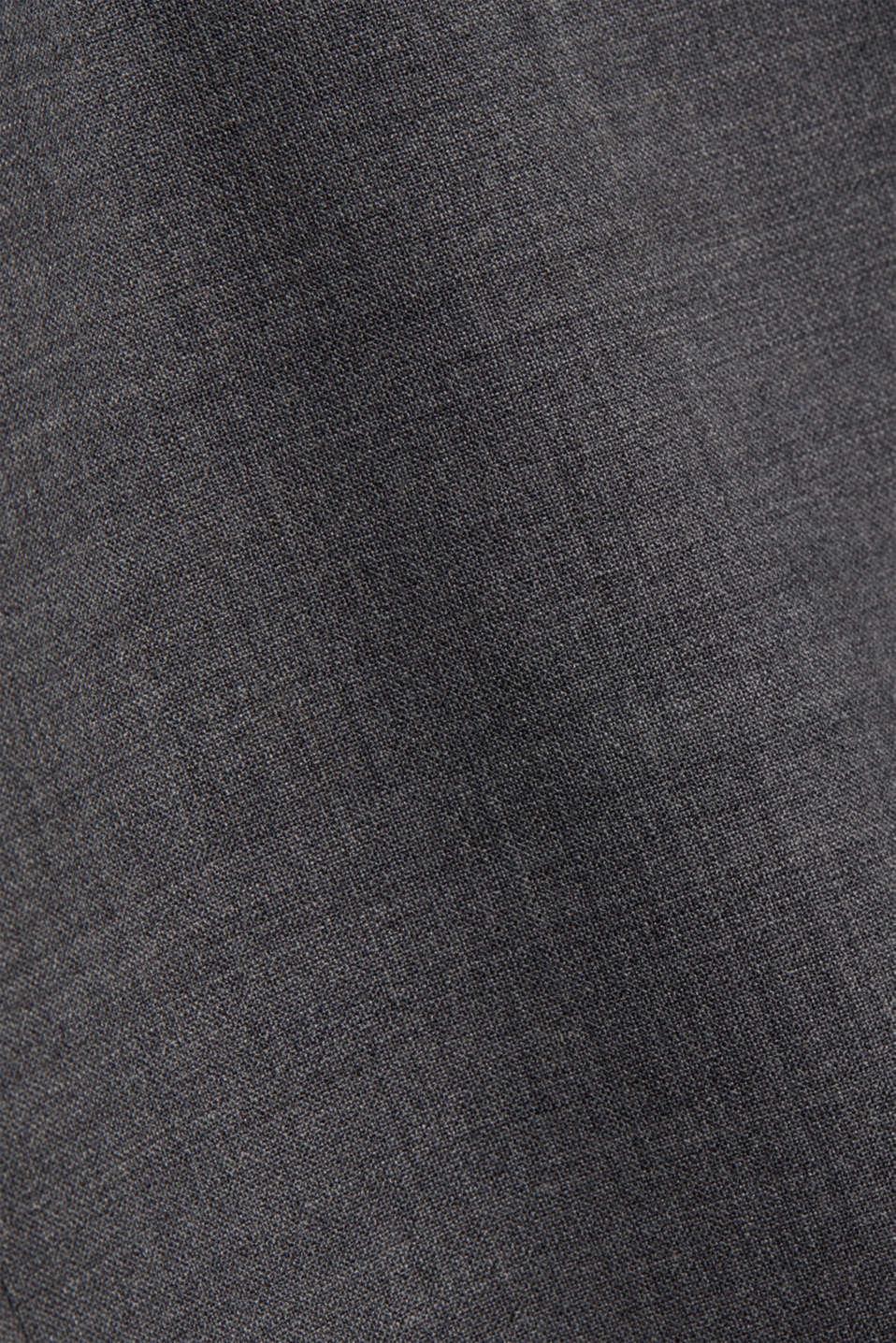 ACTIVE SUIT tailored jacket, wool blend, DARK GREY 5, detail image number 5