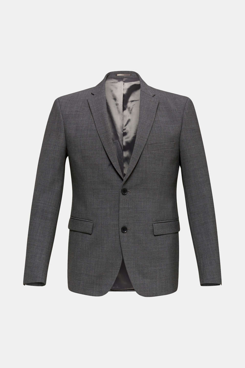 ACTIVE SUIT tailored jacket, wool blend, DARK GREY 5, detail image number 7