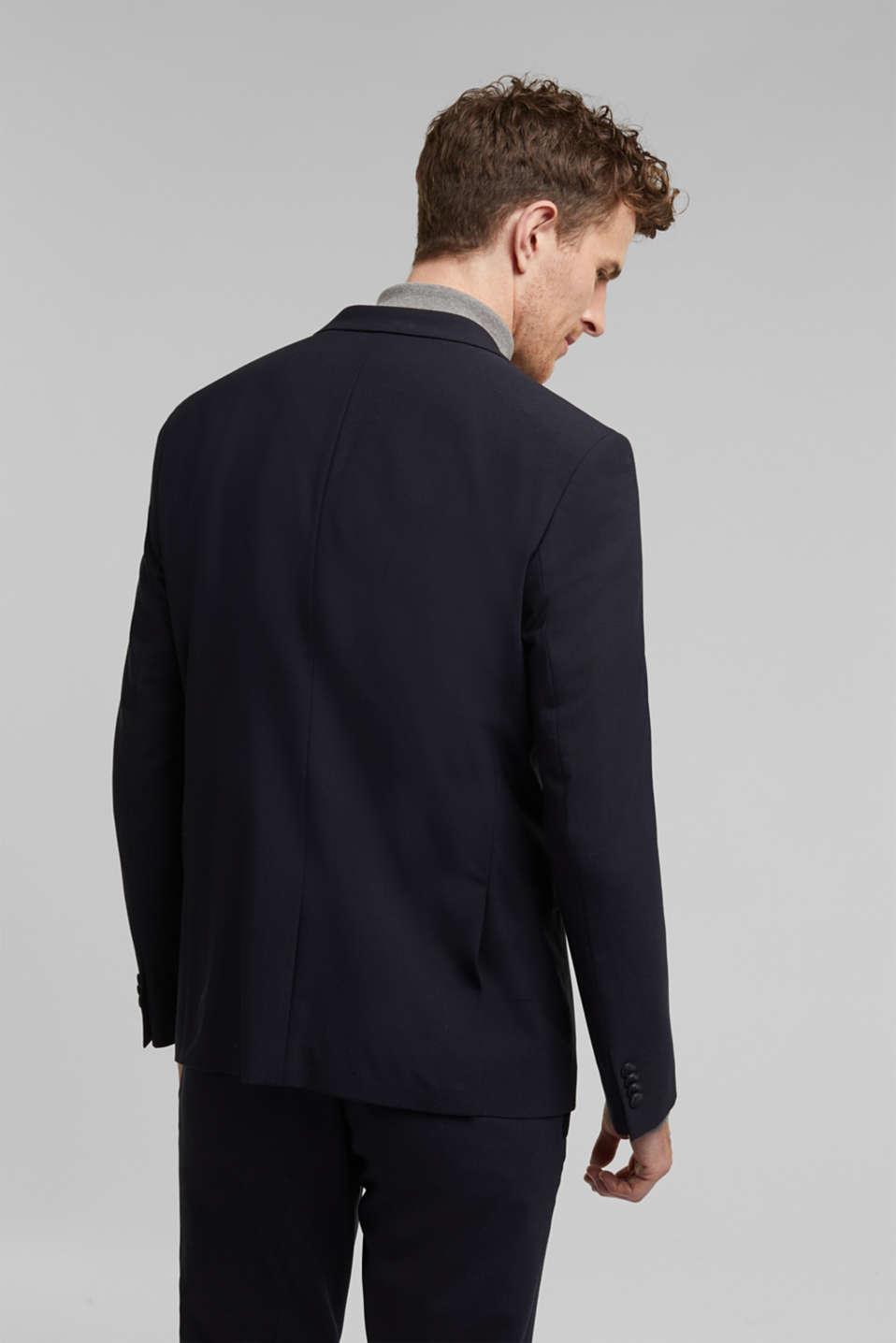 ACTIVE SUIT tailored jacket, wool blend, DARK BLUE, detail image number 3