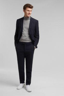 ACTIVE SUIT tailored jacket, wool blend, DARK BLUE, detail