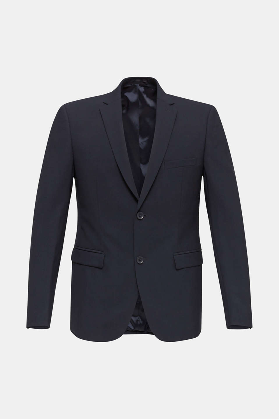 ACTIVE SUIT tailored jacket, wool blend, DARK BLUE, detail image number 7